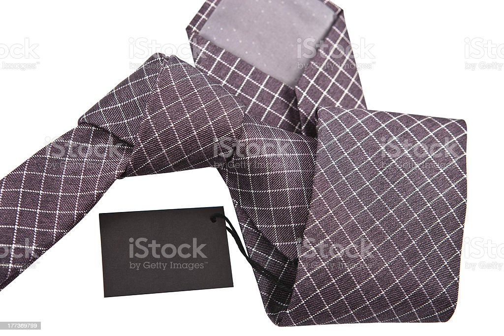 necktie with label close up royalty-free stock photo