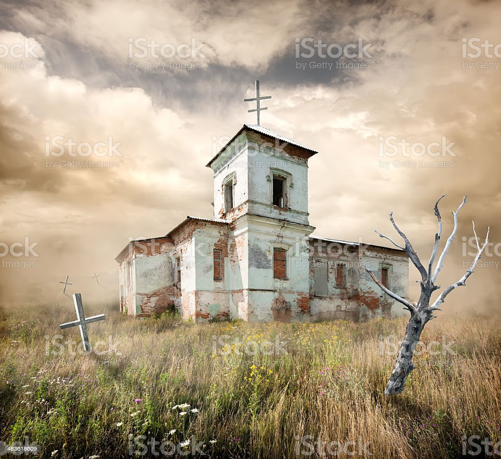 Necropolis stock photo