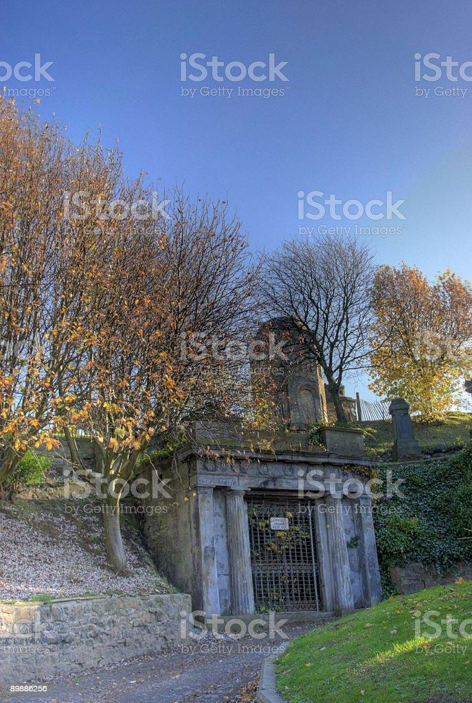 Necropolis Tomb royalty-free stock photo