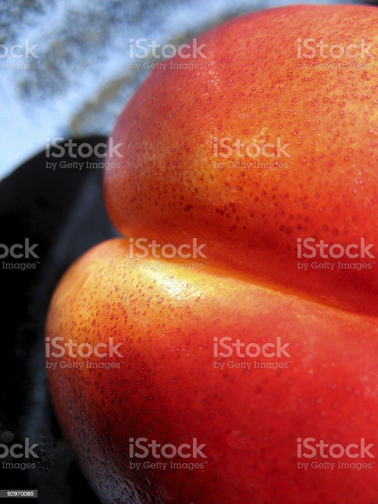 Nectarine Close Up royalty-free stock photo