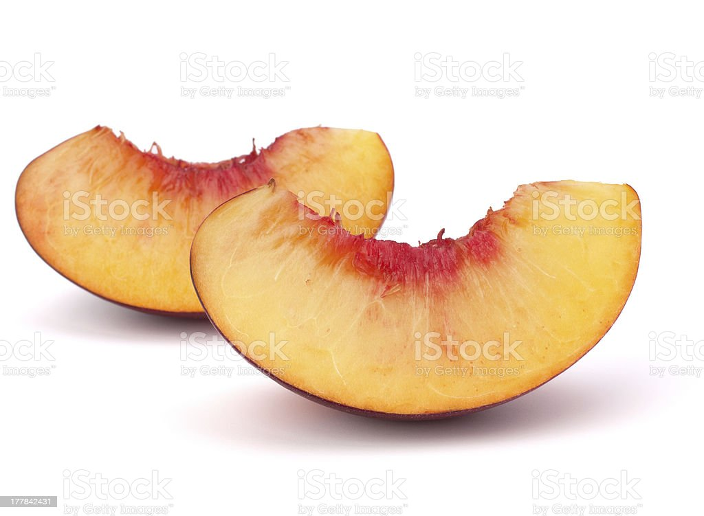 Nectarine fruit segments royalty-free stock photo