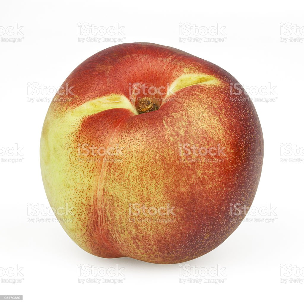 Nectarine isolated on white background royalty-free stock photo