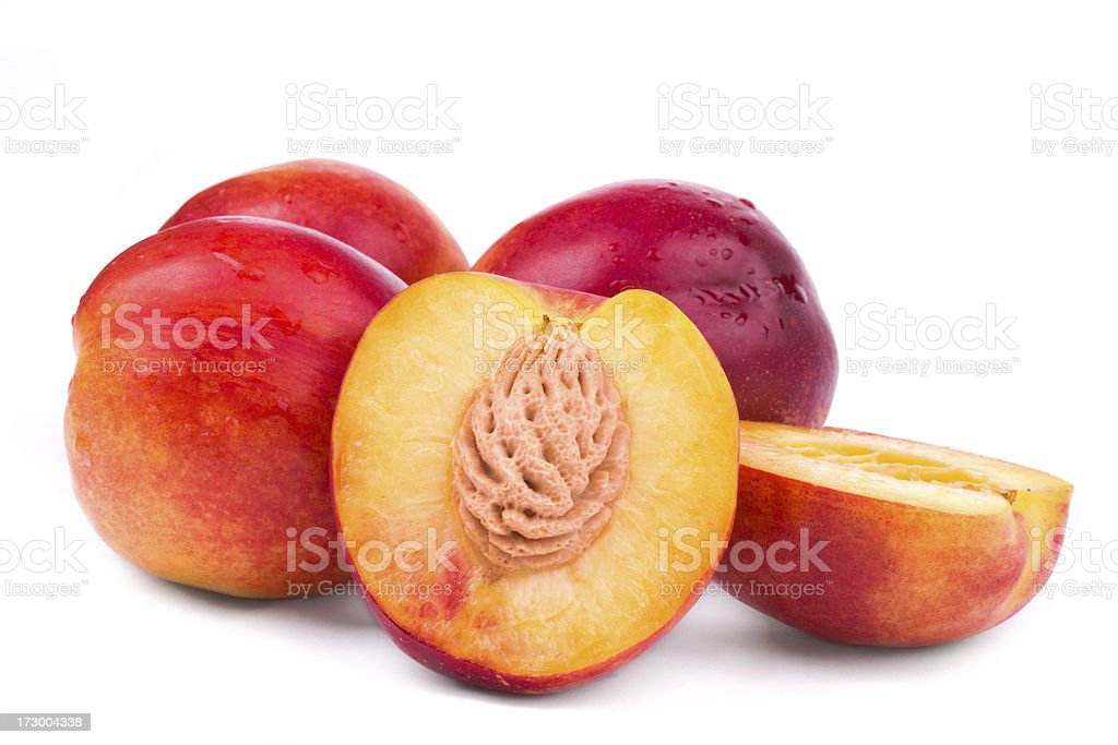 Nectarine isolated on white stock photo