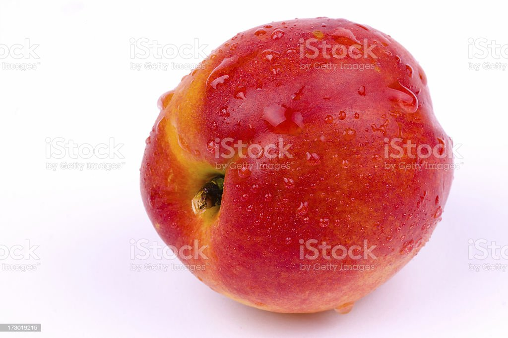 Nectarine isolated on white royalty-free stock photo