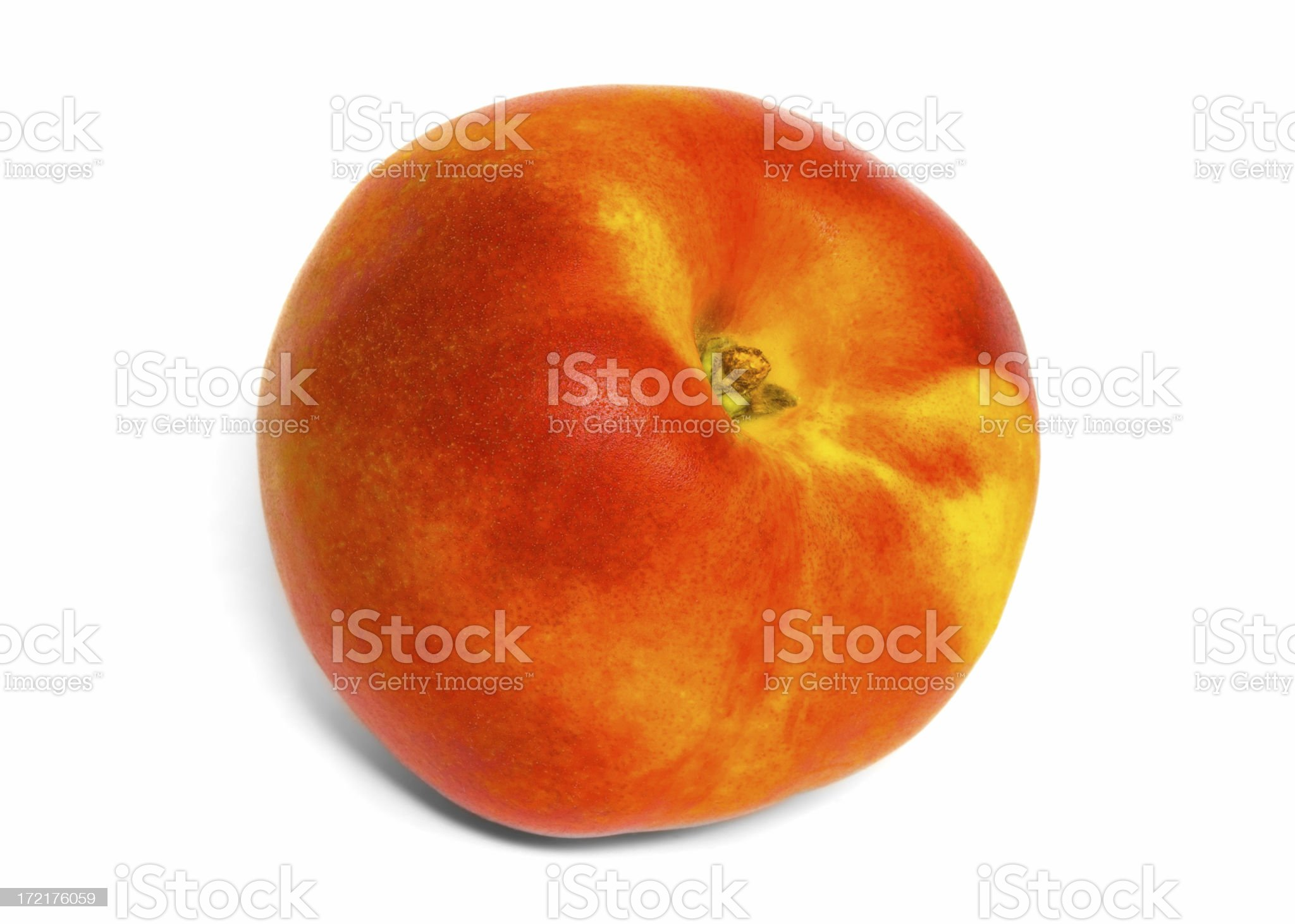 Nectarine oblique royalty-free stock photo