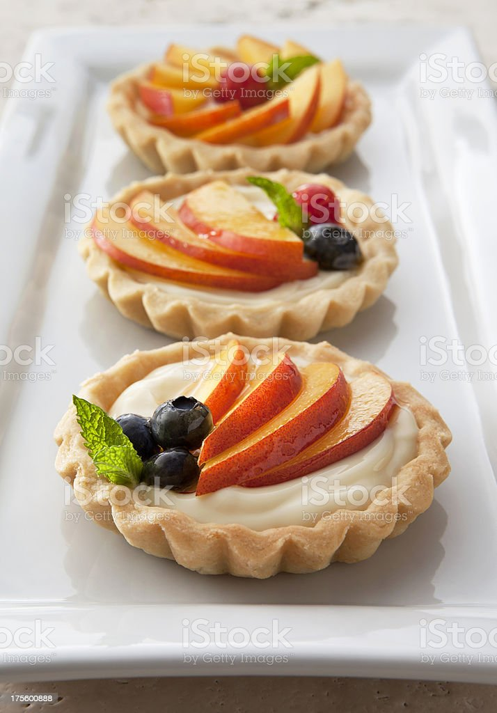 Nectarine Tartlets royalty-free stock photo