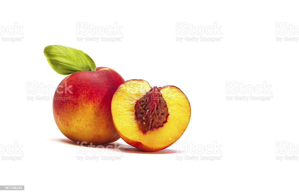 Nectarine With Seed royalty-free stock photo