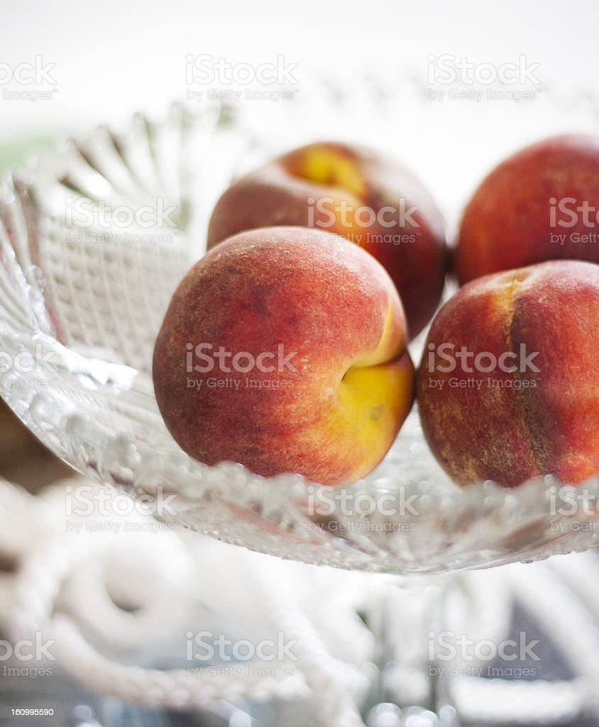 Nectarines in a bowl stock photo