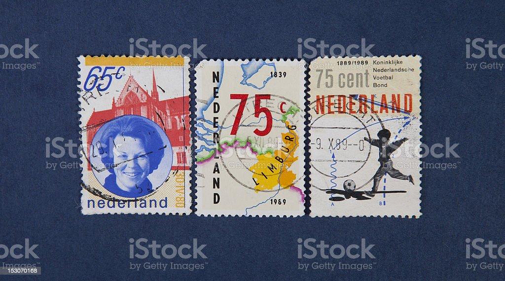nederland stamps stock photo