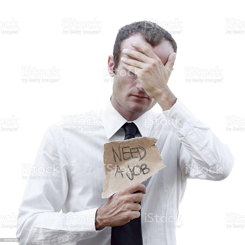 Need a Job royalty-free stock photo