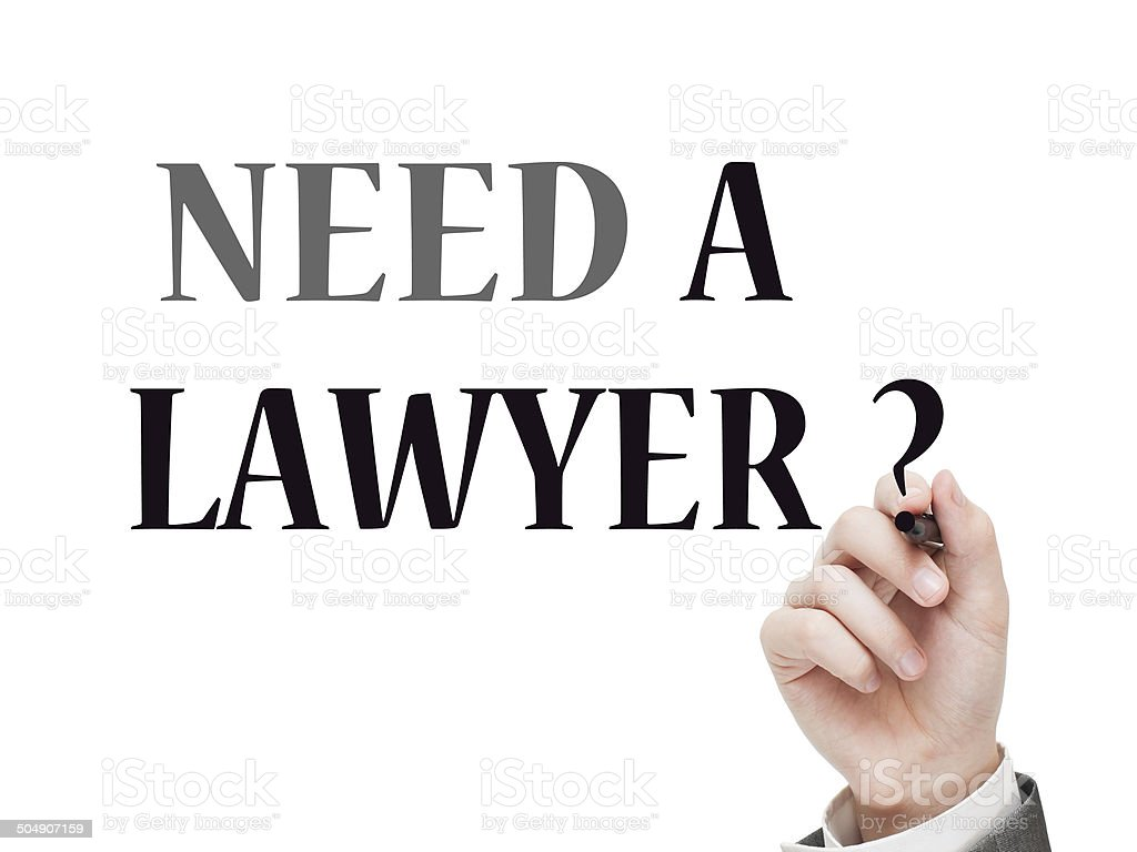 Need a lawyer ? stock photo