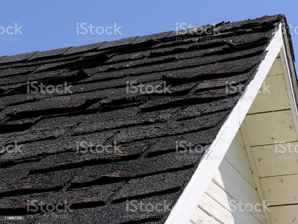 Need a new roof? royalty-free stock photo