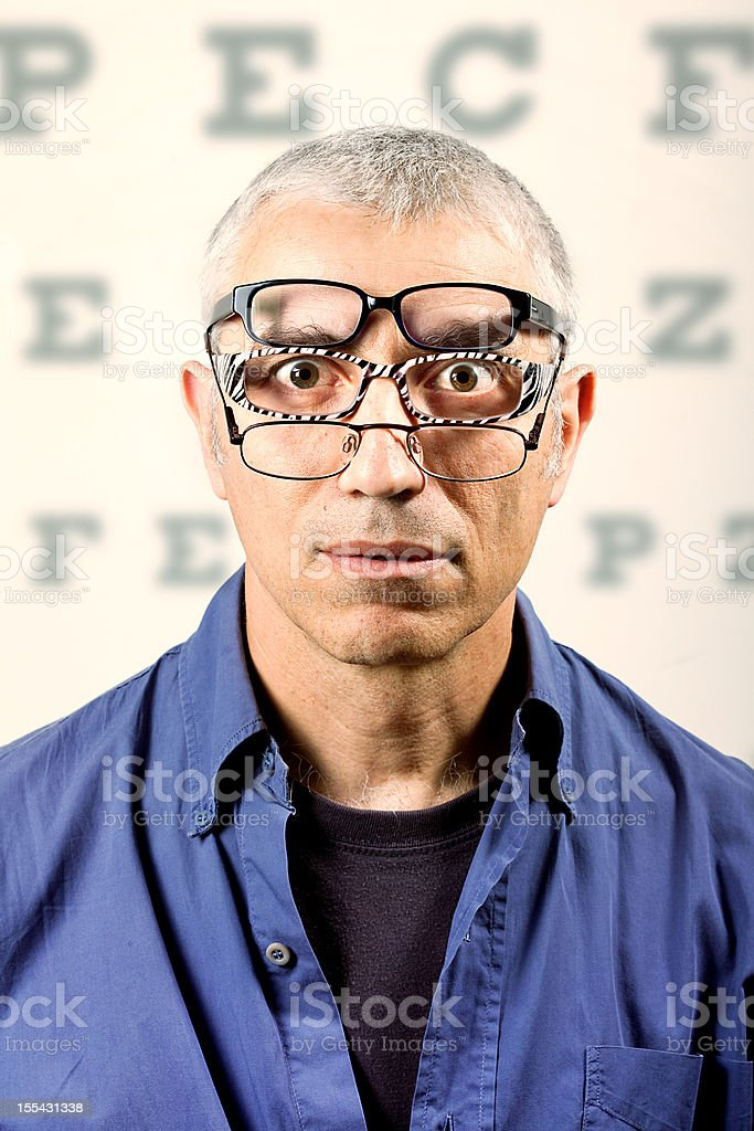 Need for multifocal lenses royalty-free stock photo