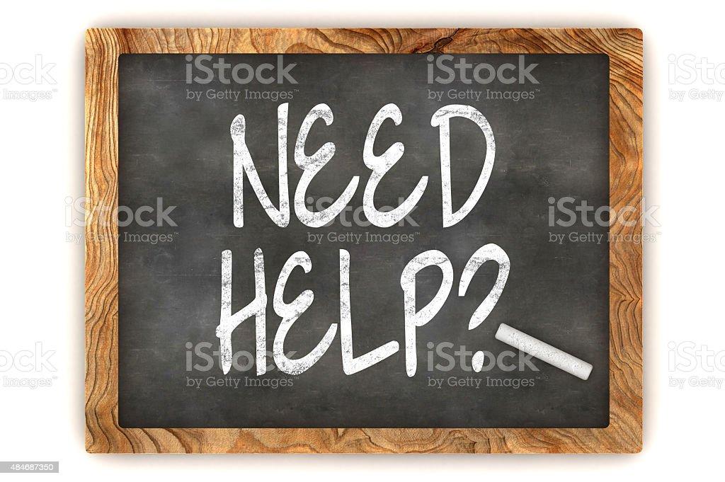 Need Help Chalkboard stock photo