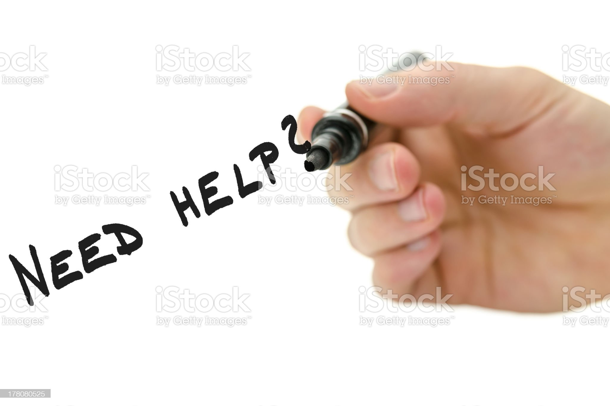 Need help? royalty-free stock photo