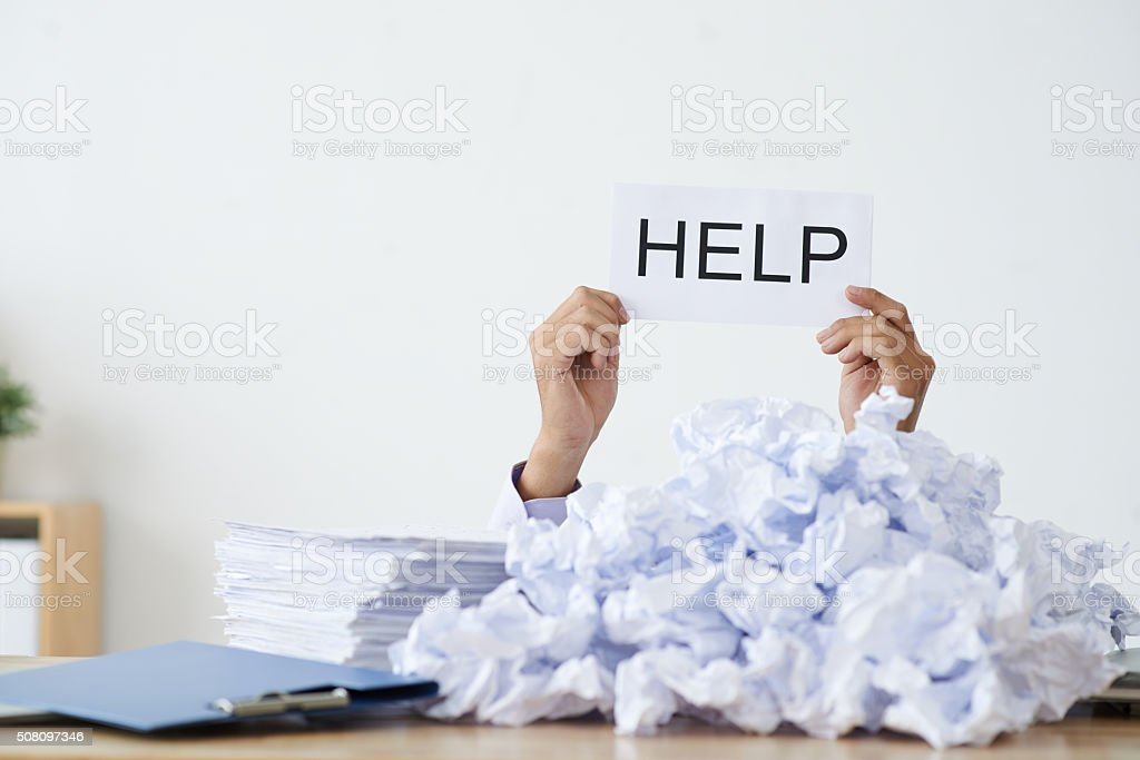 I need help stock photo