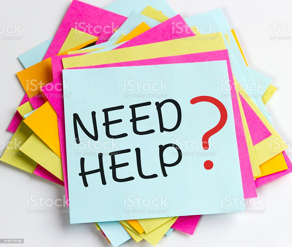 Need Help stock photo