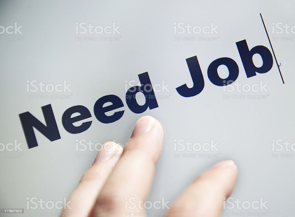Need Job royalty-free stock photo