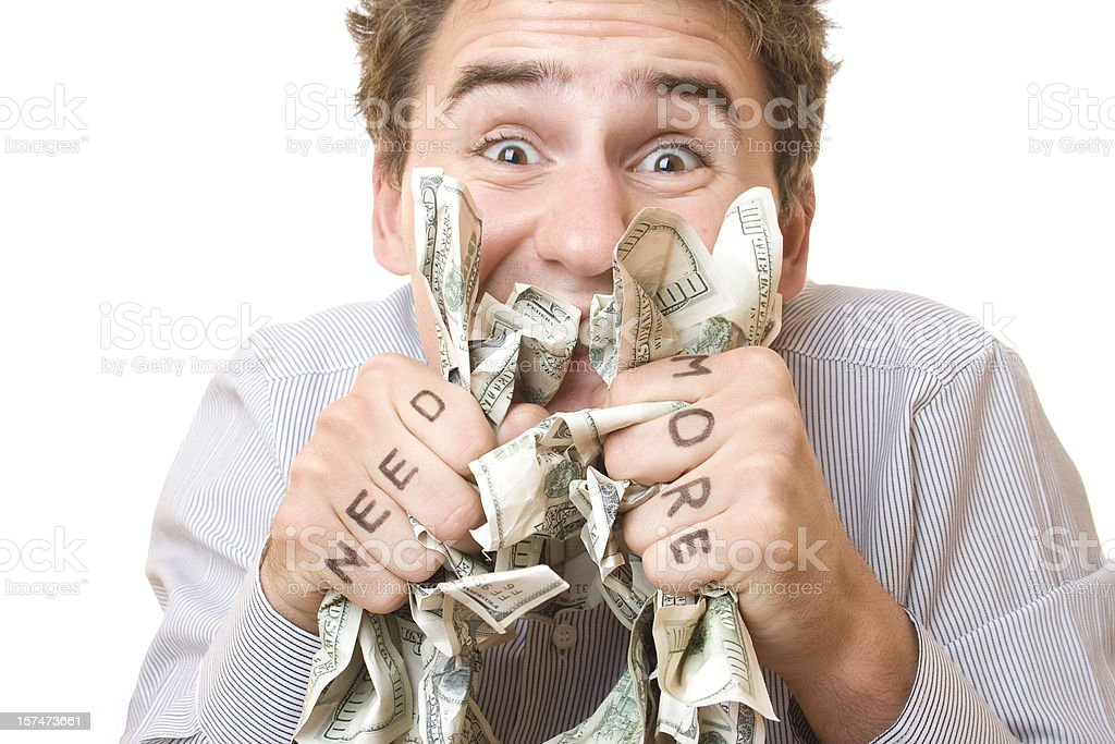 I need more dollars stock photo