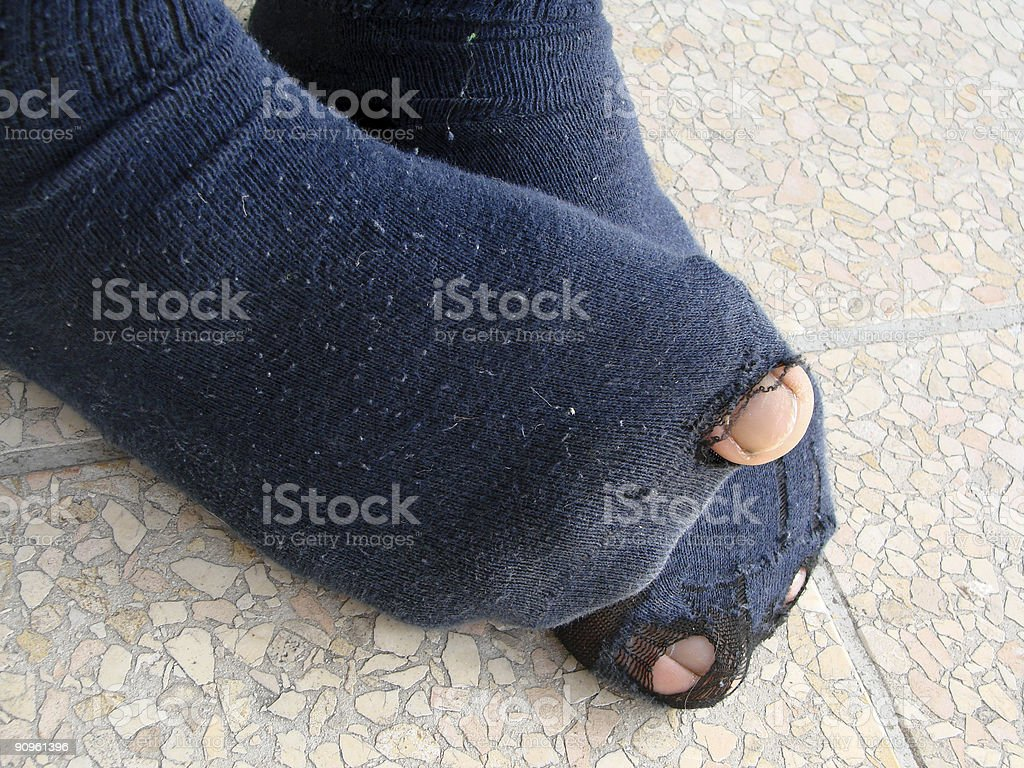 Need new socks stock photo