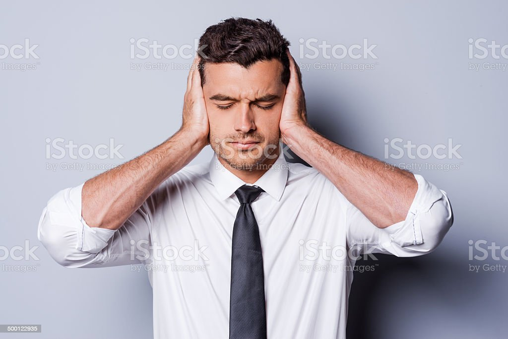 I need silence. stock photo