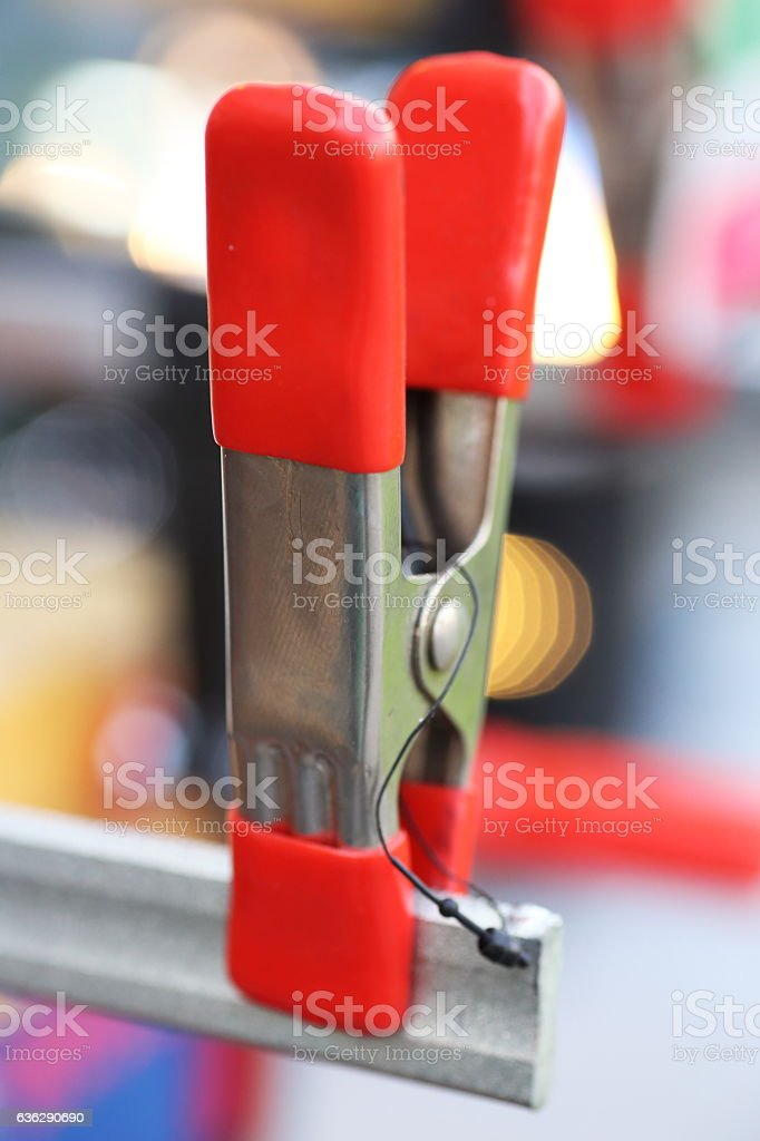 need stylish wire clamps stock photo