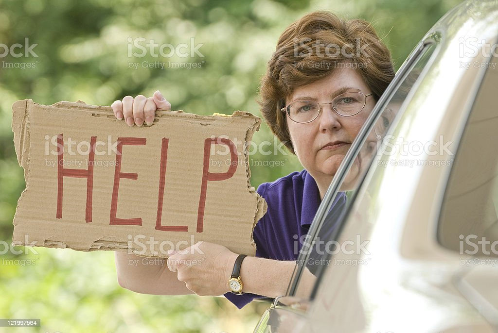 Needing Help stock photo