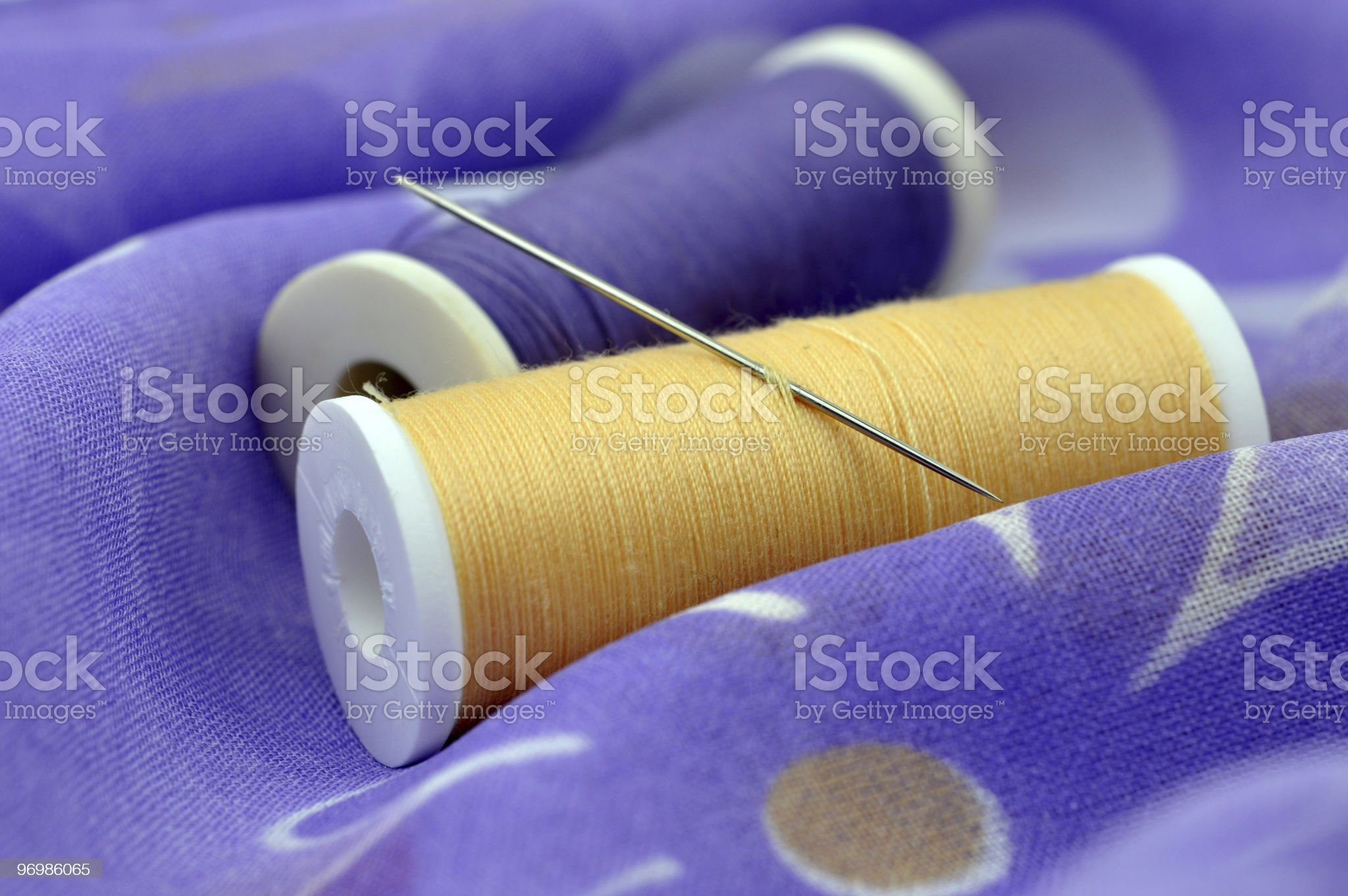 Needle and Spools royalty-free stock photo