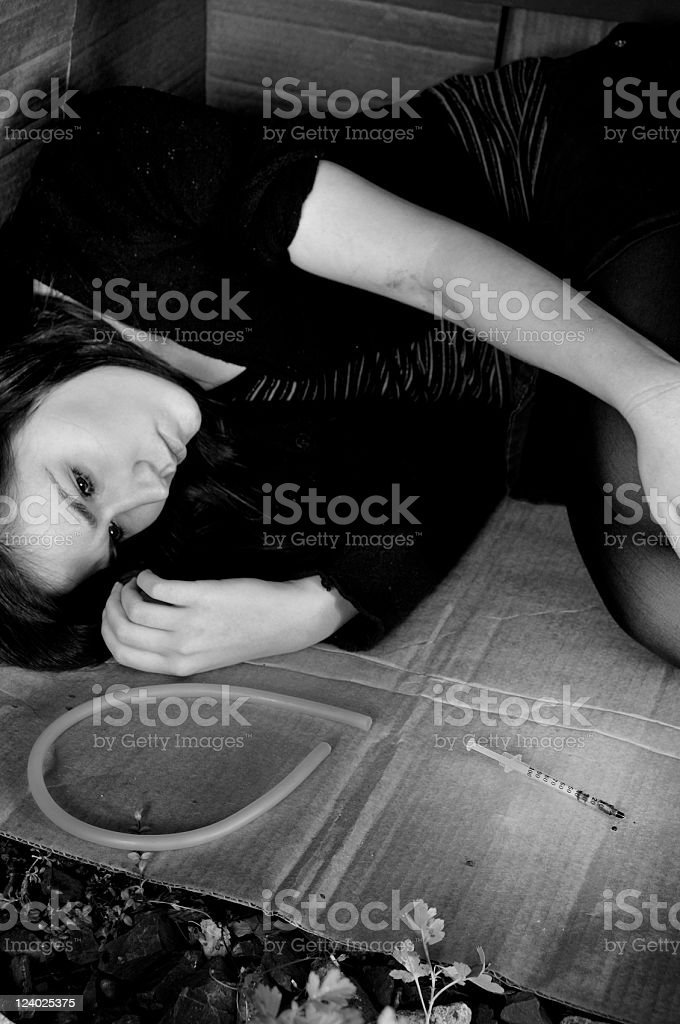 Needle and the Pain (B/W) stock photo
