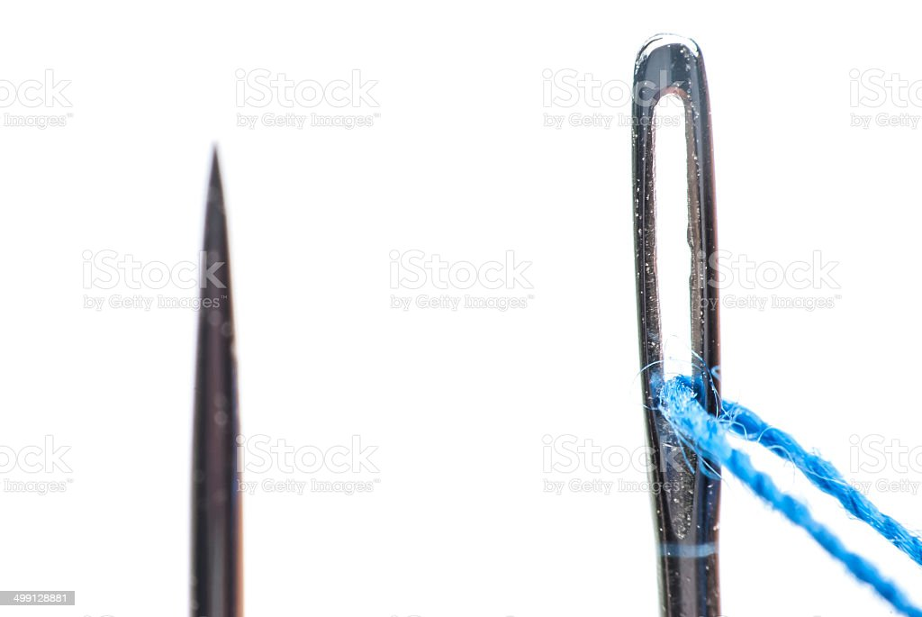 needle and thread close up royalty-free stock photo