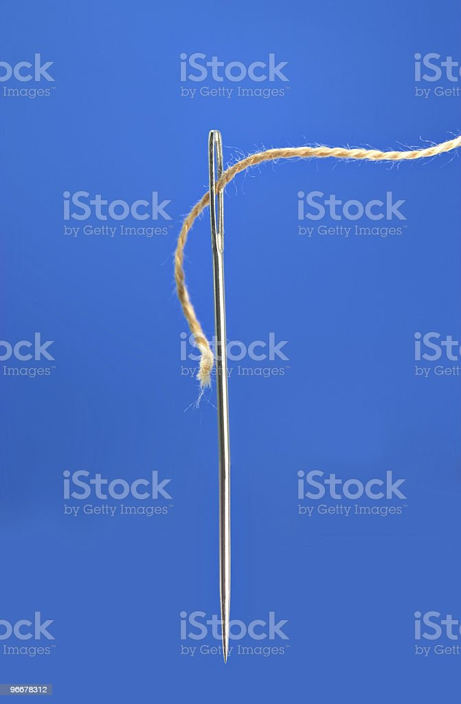 Needle and thread royalty-free stock photo