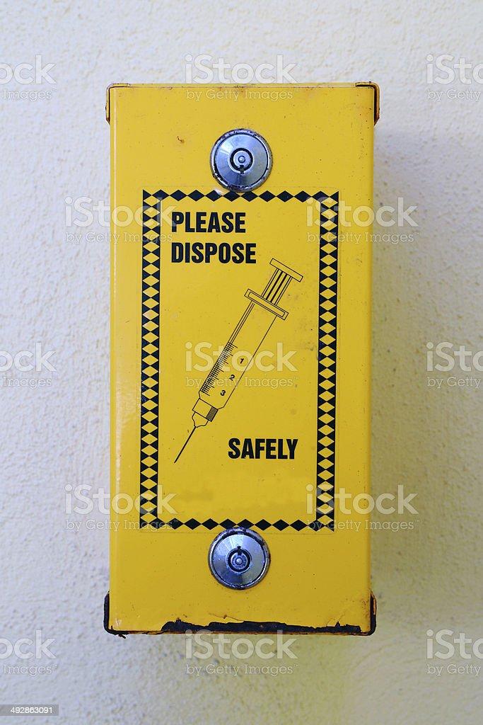 Needle Disposal stock photo
