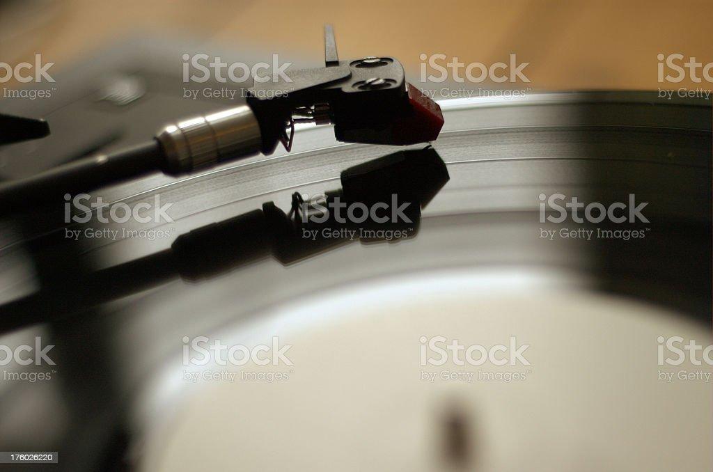 Needle on Vinyl stock photo