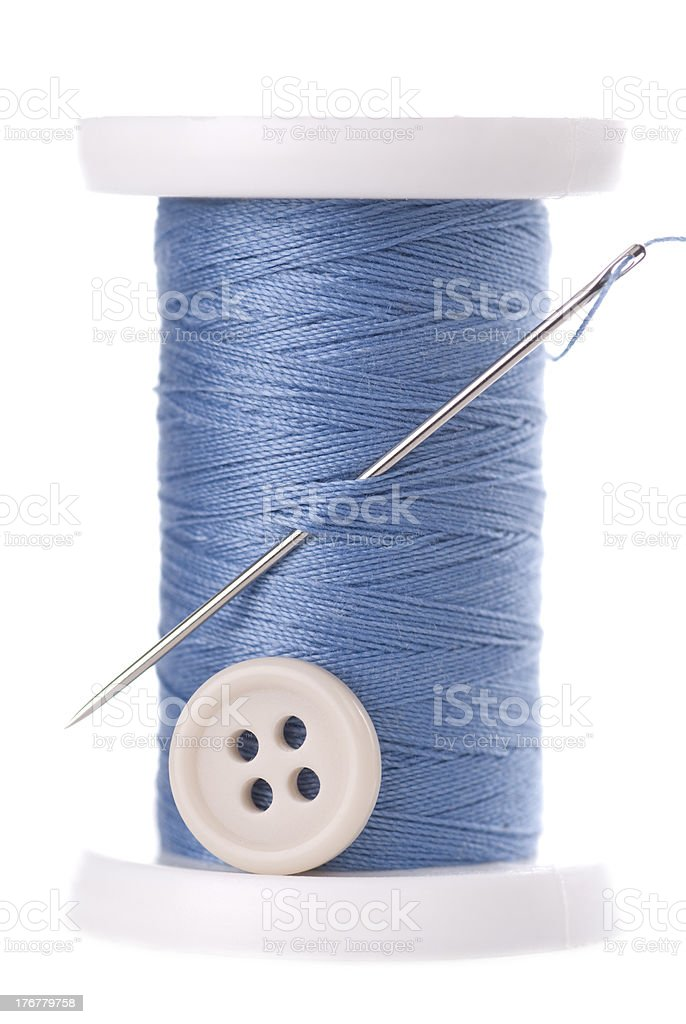 Needle Thread And Button royalty-free stock photo