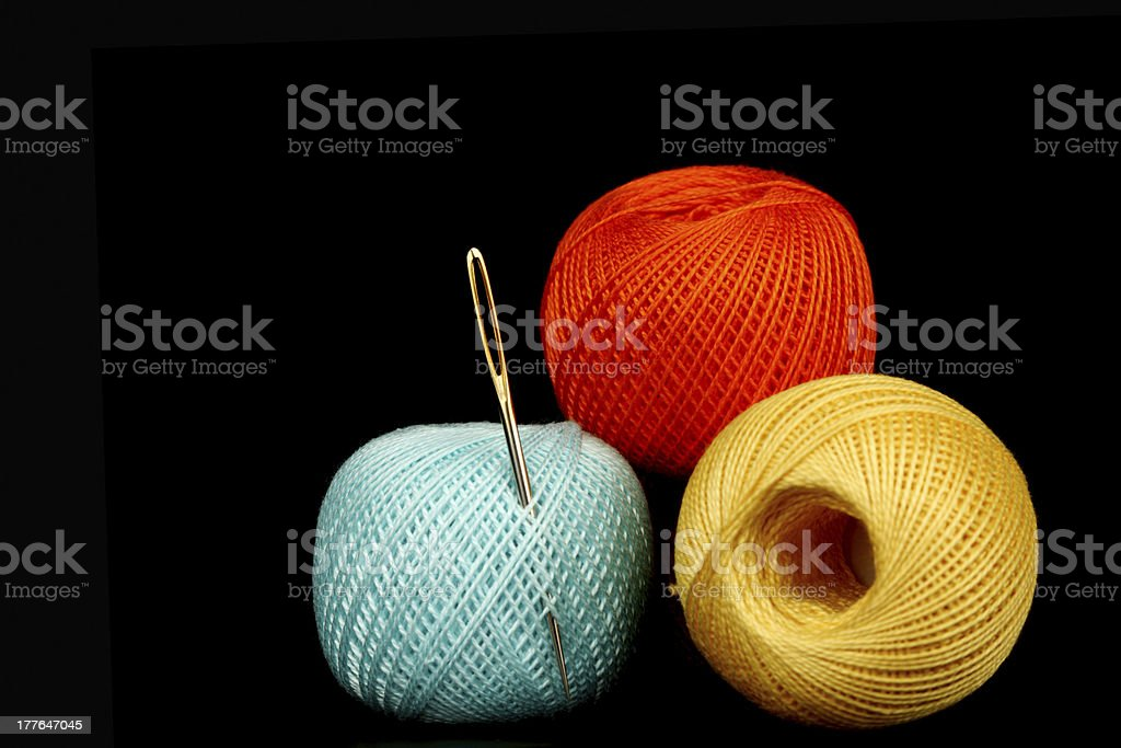 needle thread royalty-free stock photo
