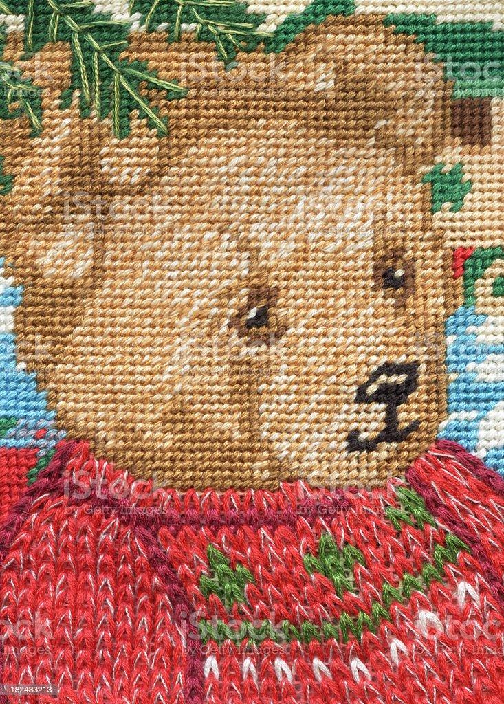 needlepoint bear royalty-free stock photo
