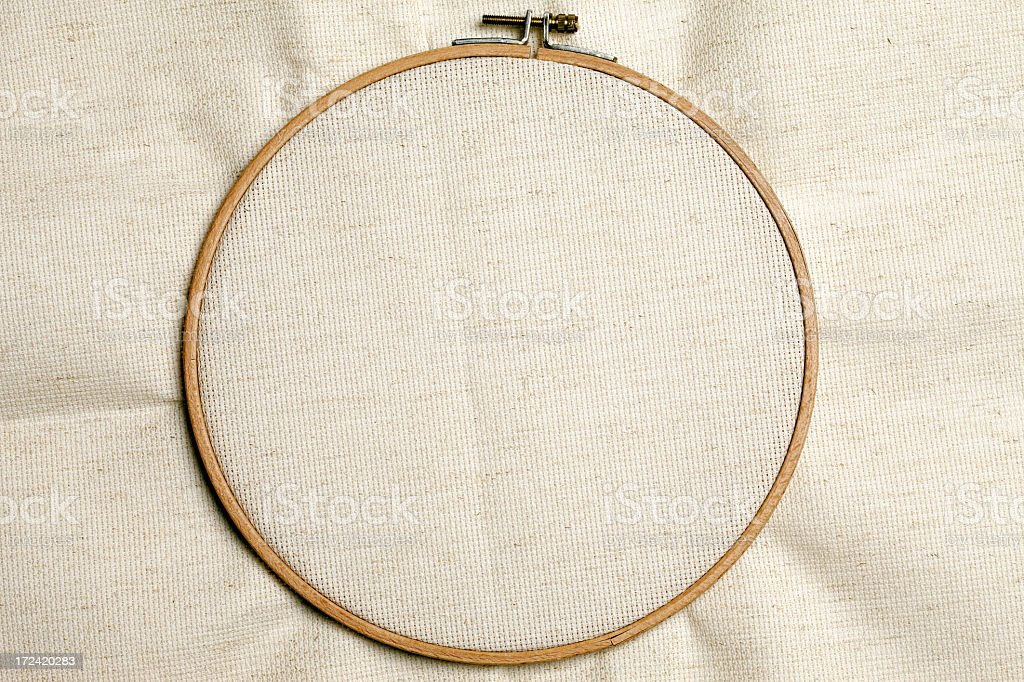 Needlepoint frame for embroidery stock photo