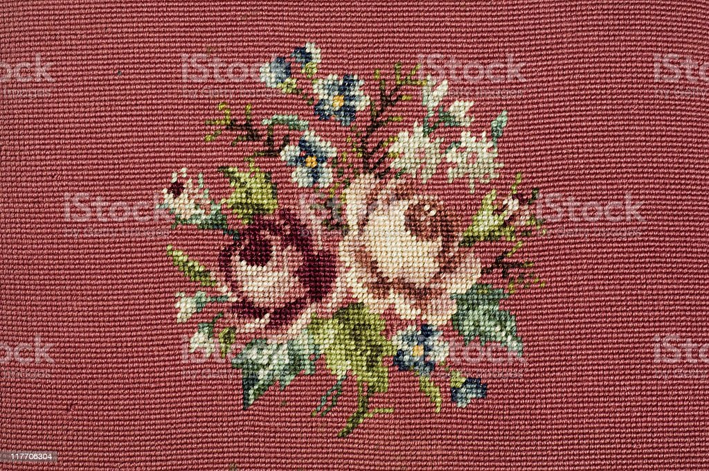 needlepoint rose design royalty-free stock photo