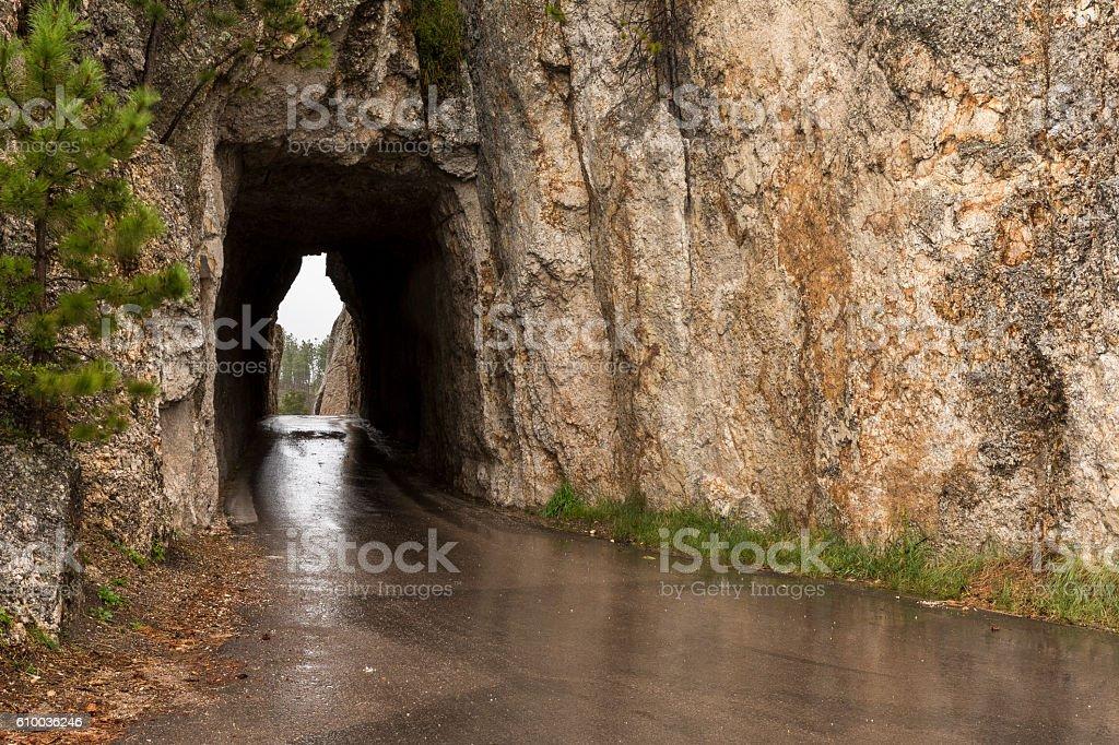 Needles Eye Tunnel stock photo