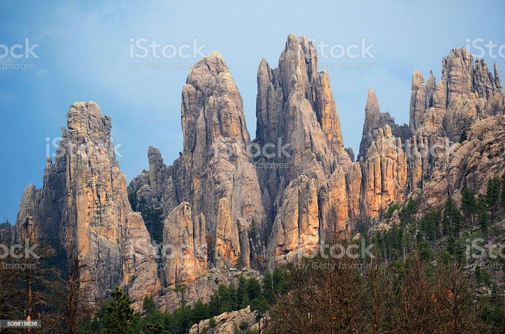 Needles Highway stock photo