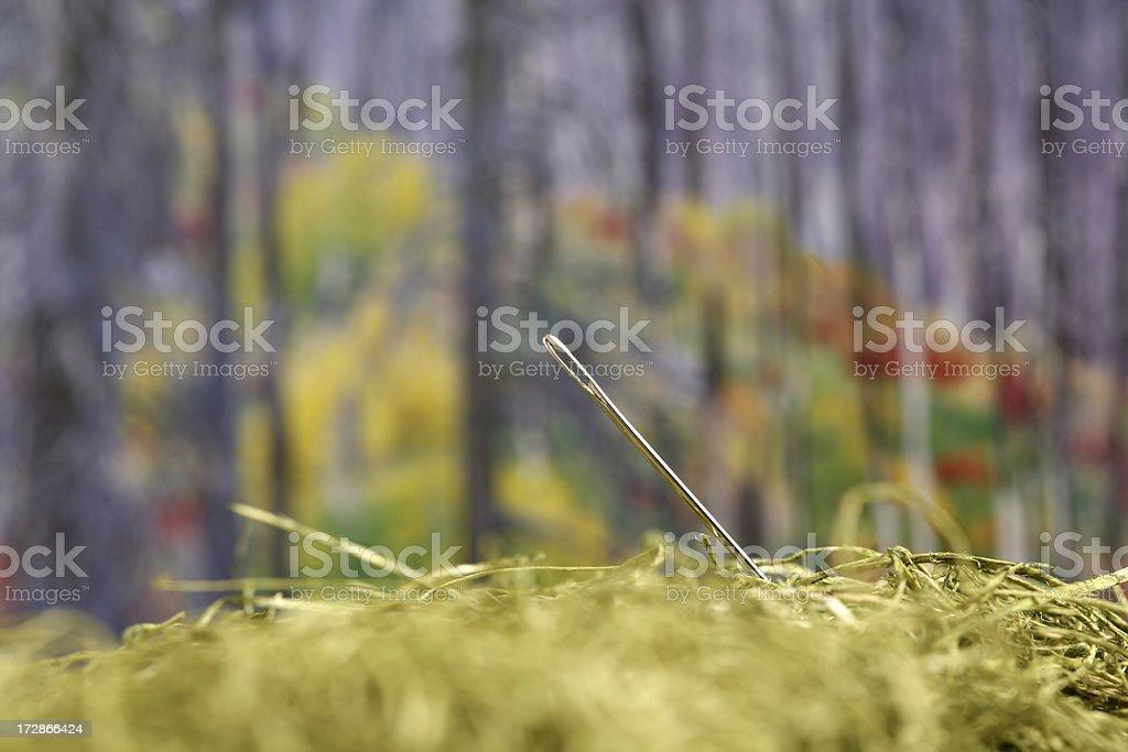 Needles in hay stock photo