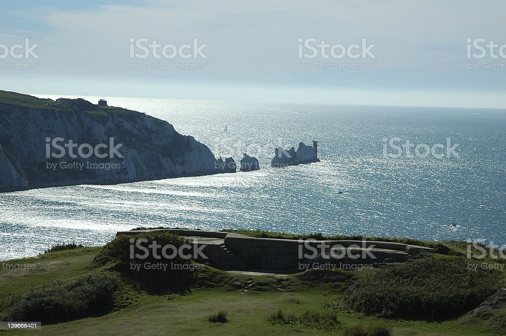 Needles, Isle of Wight royalty-free stock photo