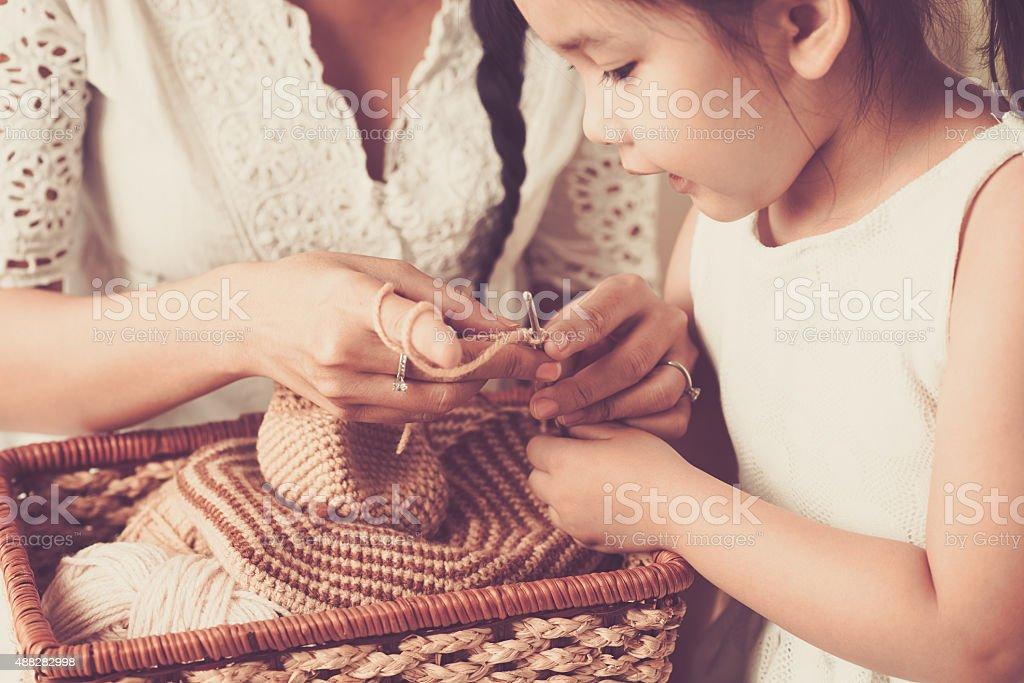 Needlework stock photo