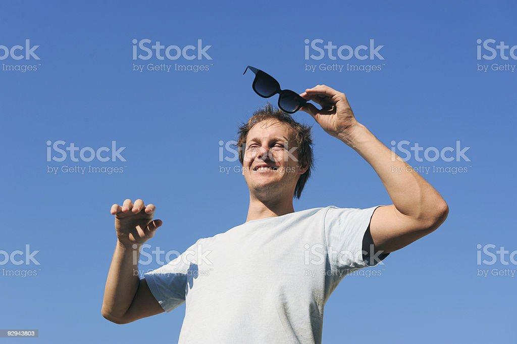 Needs sunglasses stock photo
