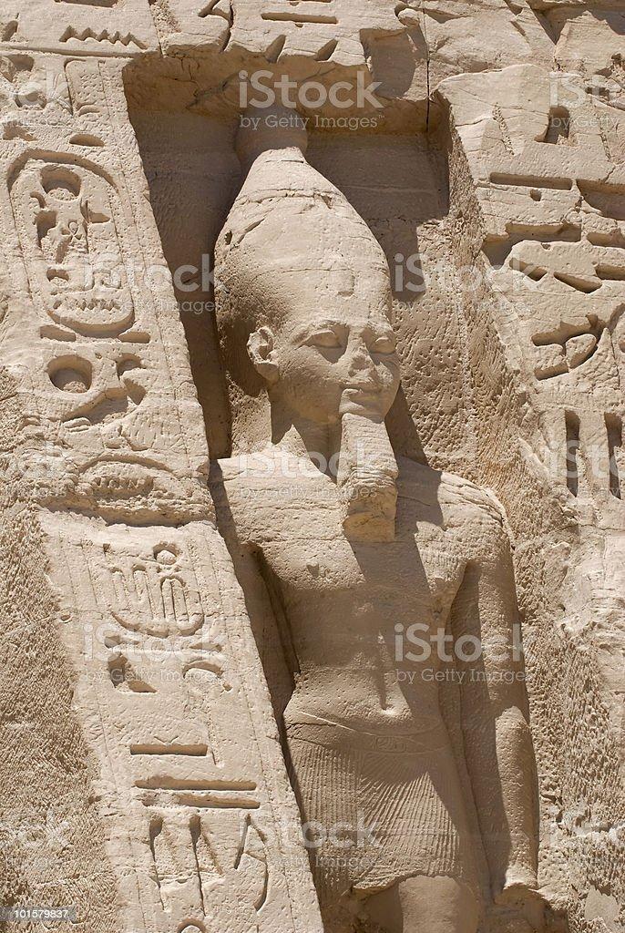 Nefertari  in Abu Simbel royalty-free stock photo