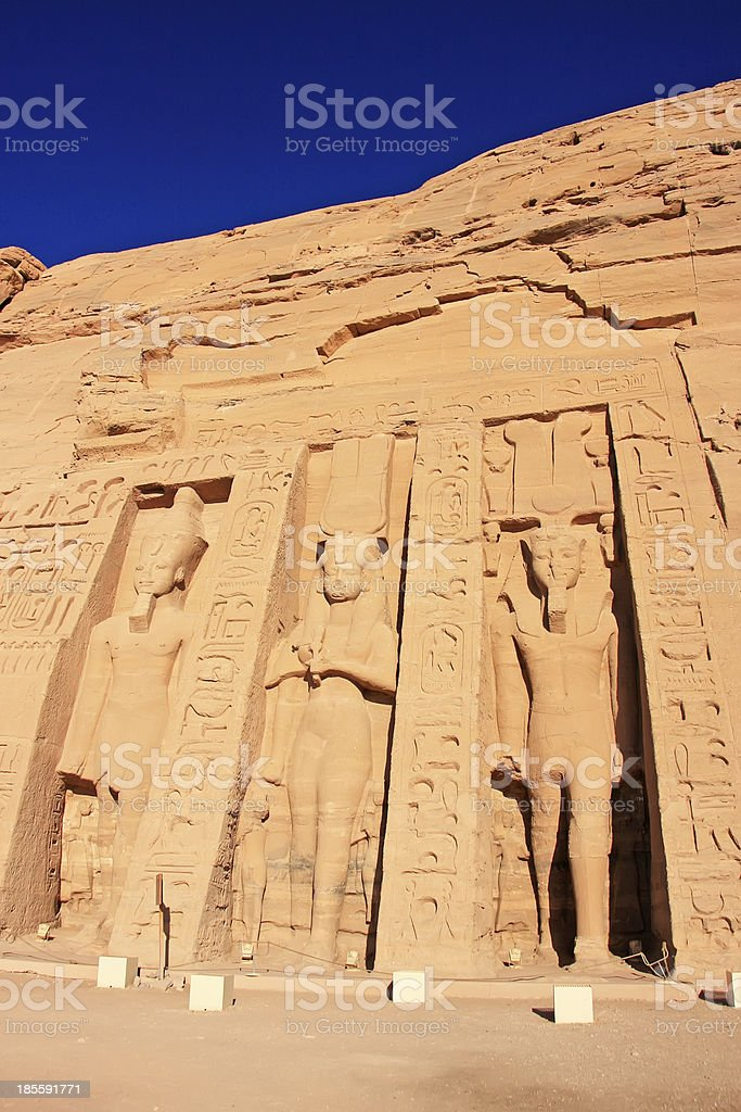 Nefertari Temple, Abu Simbel, Nubia royalty-free stock photo
