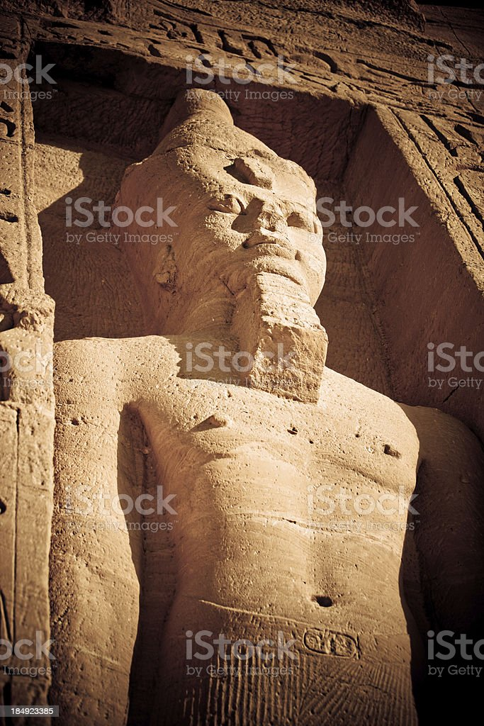 Nefertari's Temple of Hathor royalty-free stock photo
