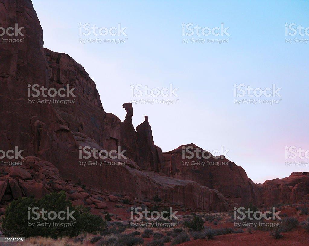Nefertiti Rock in Utah mountains, USA stock photo