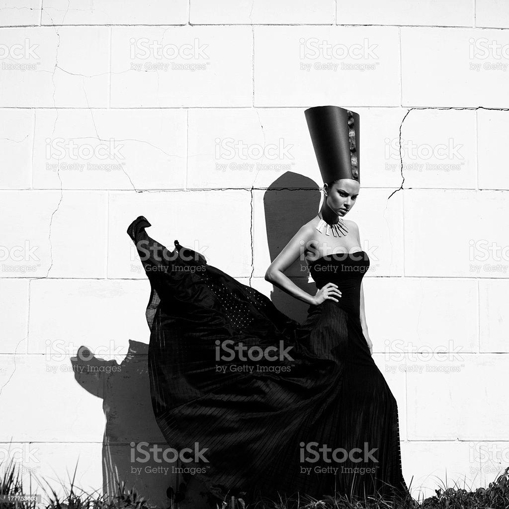 Nefertiti. Stylized fashion royalty-free stock photo