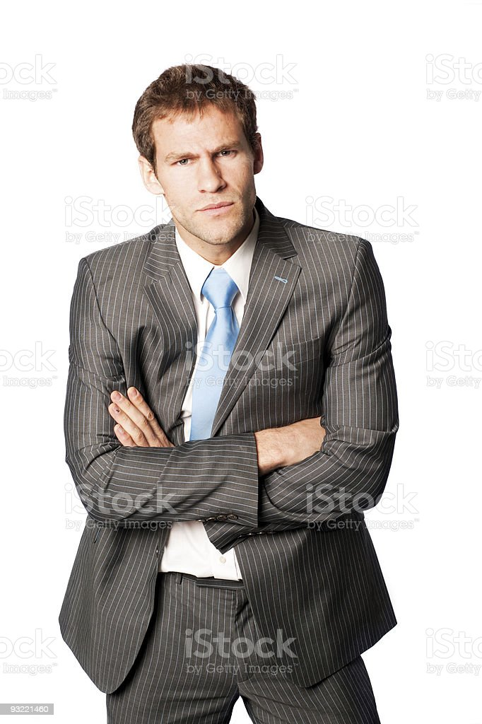 Negative business man. royalty-free stock photo
